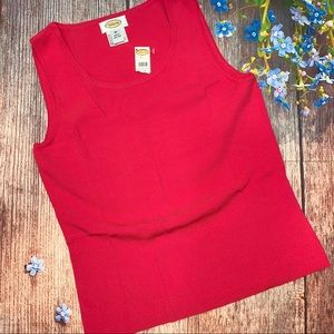 NWT Talbots Fine Gauge Knit Tank Shell Coral Med